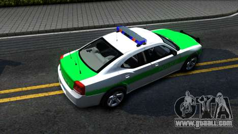 Dodge Charger German Police 2008 for GTA San Andreas back view