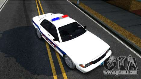 Vapid Stanier Metropolitan Police 2009 for GTA San Andreas
