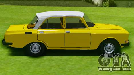 Moskvich 2140 GVR for GTA San Andreas back left view