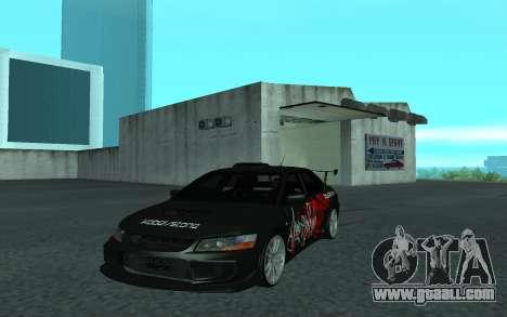 Mitsubishi Lancer Evolution VII for GTA San Andreas back view