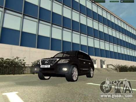 Lexus LX 570 2011 for GTA San Andreas