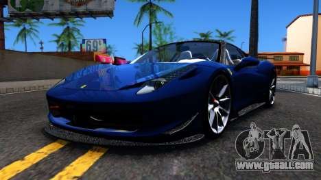 Ferrari 458 Italia Tune for GTA San Andreas