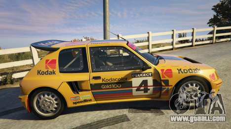 GTA 5 Peugeot 205 Turbo 16 left side view