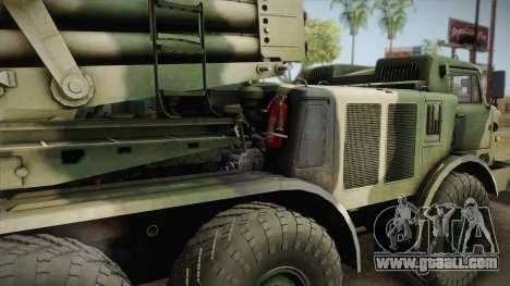 BM-27 Uragan (9P140) for GTA San Andreas right view