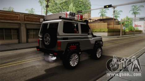 Toyota Land Cruiser Machito 2013 Sound Y for GTA San Andreas back left view