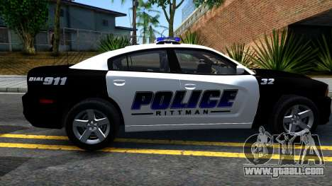 Dodge Charger Rittman Ohio Police 2013 for GTA San Andreas left view