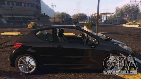 GTA 5 Peugeot 207 left side view