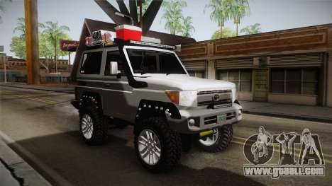 Toyota Land Cruiser Machito 2013 Sound Y for GTA San Andreas right view