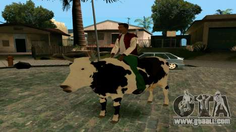 Riding on the cow for GTA San Andreas
