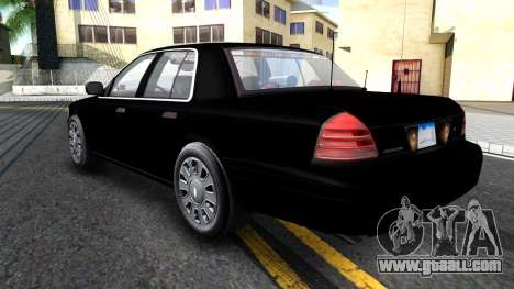Ford Crown Victoria OHSP Unmarked 2010 for GTA San Andreas back view