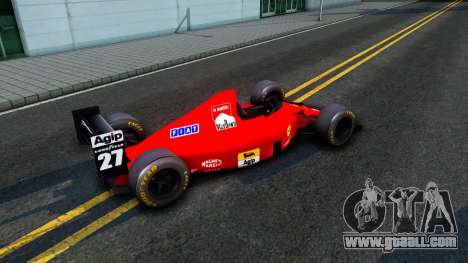 Ferrari 640 F1 1989 for GTA San Andreas back left view