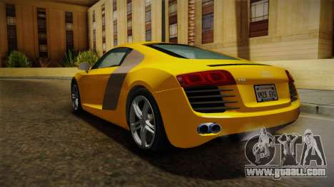Audi R8 Coupe 4.2 FSI quattro EU-Spec 2008 Dirt for GTA San Andreas right view