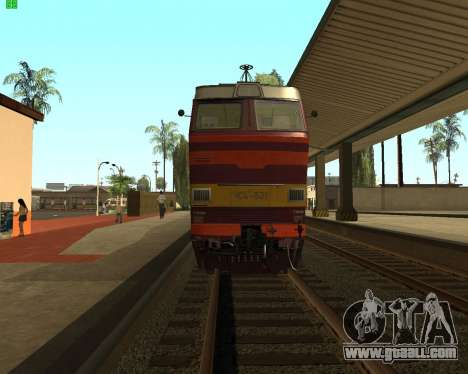 Passenger locomotive CHS4t-521 for GTA San Andreas right view