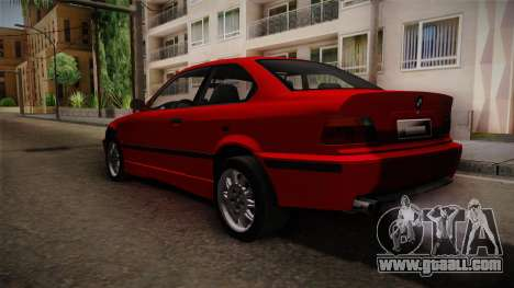 BMW 328i E36 Coupe for GTA San Andreas back left view