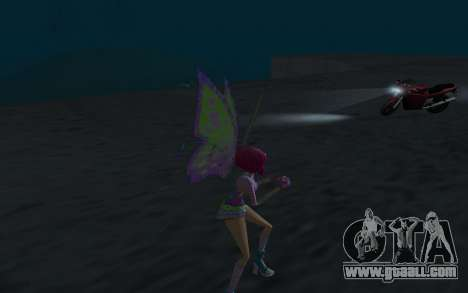 Tecna Believix from Winx Club Rockstars for GTA San Andreas forth screenshot