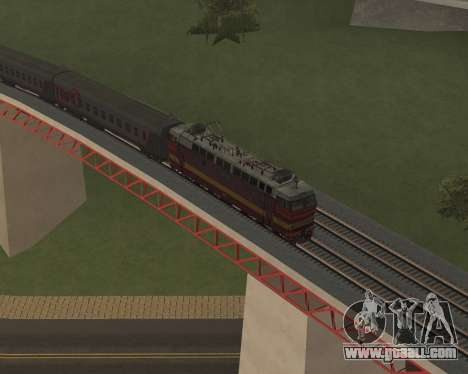 Passenger locomotive CHS4t-521 for GTA San Andreas wheels