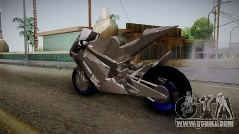 Dark Light Motorcycle for GTA San Andreas back left view