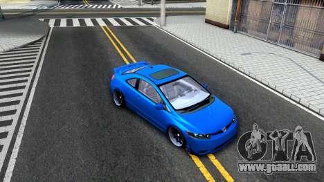 Honda Civic Si for GTA San Andreas inner view
