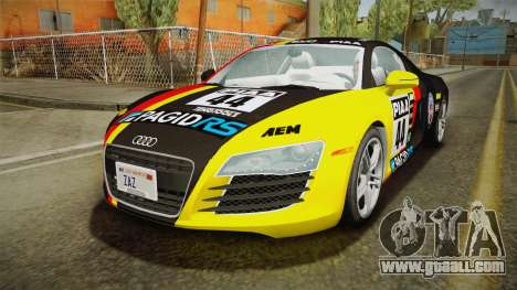 Audi R8 Coupe 4.2 FSI quattro US-Spec v1.0.0 v4 for GTA San Andreas bottom view