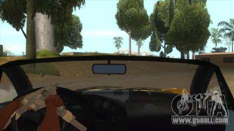 GTA V Dynka Jester Spider for GTA San Andreas inner view