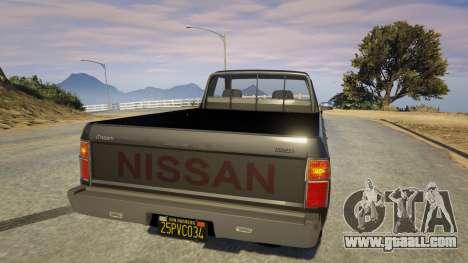 GTA 5 Nissan Datsun 1985 rear left side view