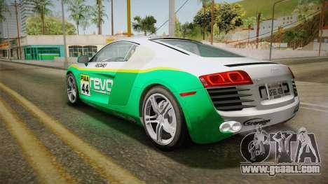 Audi R8 Coupe 4.2 FSI quattro US-Spec v1.0.0 v4 for GTA San Andreas upper view