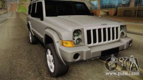 Jeep Commander 2010 for GTA San Andreas back left view