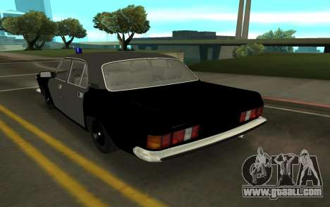 GAZ 24-10 Sheriff for GTA San Andreas back left view