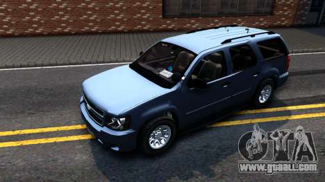 Chevy Tahoe Metro Police Unmarked 2012 for GTA San Andreas left view
