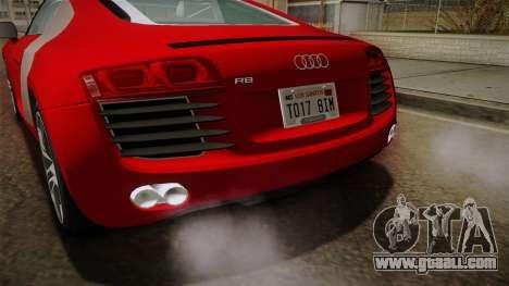Audi R8 Coupe 4.2 FSI quattro EU-Spec 2008 YCH2 for GTA San Andreas bottom view