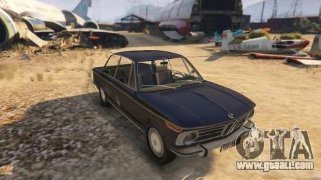 GTA 5 BMW 2002 72 back view