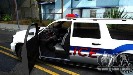 Declasse Granger Metropolitan Police 2012 for GTA San Andreas inner view