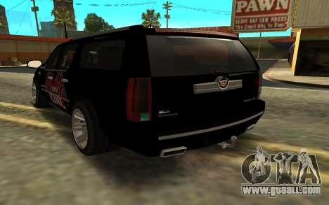 Cadillac Escalade for GTA San Andreas left view