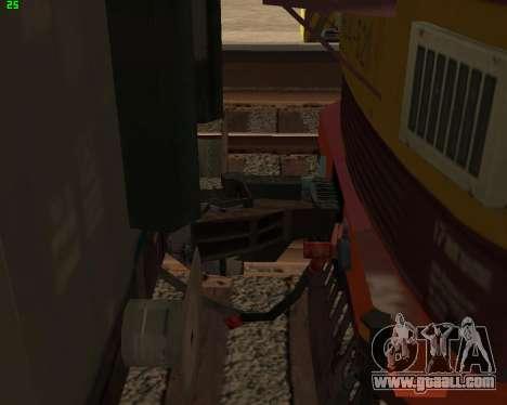 Passenger locomotive CHS4t-521 for GTA San Andreas bottom view