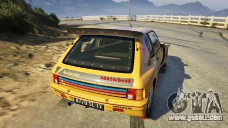 GTA 5 Peugeot 205 Turbo 16 rear left side view