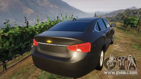 GTA 5 Chevrolet Impala 2015 rear left side view