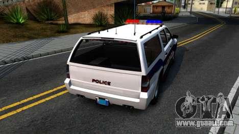 Declasse Granger Metropolitan Police 2012 for GTA San Andreas back left view