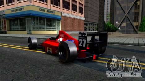 Ferrari 640 F1 1989 for GTA San Andreas back view