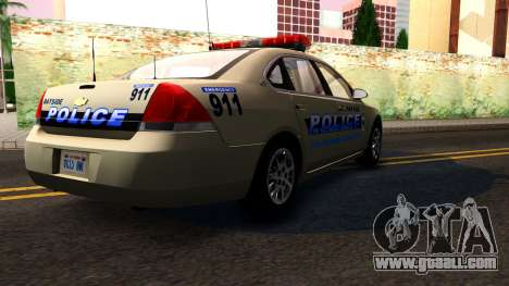 2007 Chevy Impala Bayside Police for GTA San Andreas inner view
