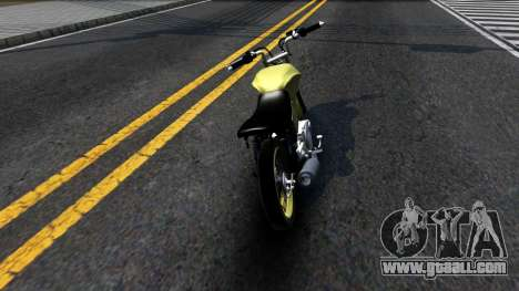 Honda Titan 150 Stunt for GTA San Andreas back left view