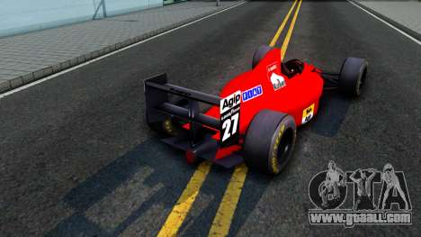 Ferrari 640 F1 1989 for GTA San Andreas right view