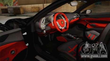 Ferrari 488 GTB for GTA San Andreas inner view