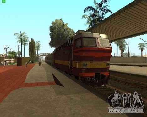 Passenger locomotive CHS4t-521 for GTA San Andreas back left view