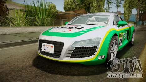 Audi R8 Coupe 4.2 FSI quattro EU-Spec 2008 Dirt for GTA San Andreas engine
