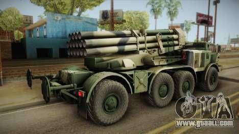 BM-27 Uragan (9P140) for GTA San Andreas left view