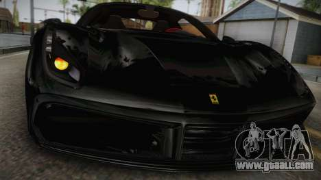 Ferrari 488 GTB for GTA San Andreas back left view