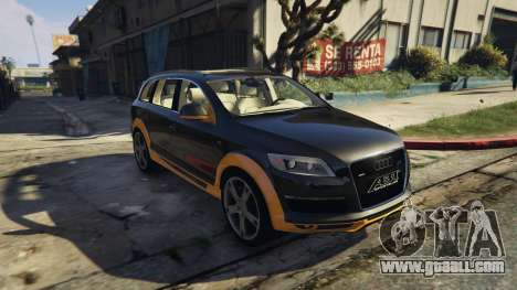 GTA 5 2009 Audi Q7 AS7 ABT rear left side view