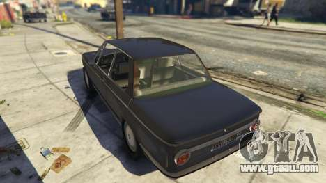 GTA 5 BMW 2002 72 rear left side view
