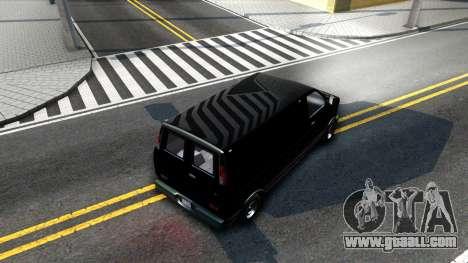 GTA V Declasse Burrito for GTA San Andreas inner view