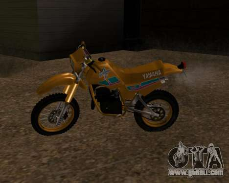 Yamaha DT 180 with original SA plate for GTA San Andreas left view